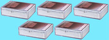 5 ULTRA PRO 50 COUNT CLEAR HINGED CARD STORAGE BOX Case Holder Sports Trading