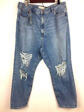 Asos Denim Women Destroyed Jeans Light wash denim Size 18 NEW