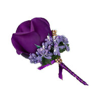 Handmade Bridesmaids Silk Flower For Wedding Bouquet Bracelet Corsage Decor
