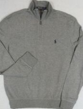 Polo Ralph Lauren Jersey Pullover Gray 1/2 Half-Zip Large L NWT