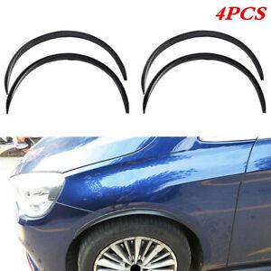 4Pcs Carbon Fiber Look Car Wheel Eyebrow Arch Protector Trim Lips Fender Flares