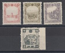 Manchukuo Sc 84//113, MNH. 1936-37 issues, 4 different singles, F-VF.