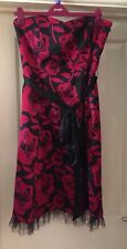 Editions Black Mix Satin Feel Strapless Netted Dress, Size 16 - Stunning!