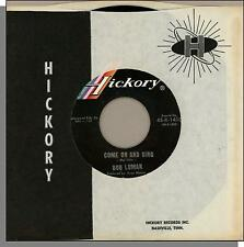 """Bob Luman - Come On and Sing + It's a Sin - 7"""" 45 RPM Hickory Country Single!"""