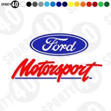 Ford Motorsport - Vinyl Decal / Sticker  - 125mm Fiesta Focus Mondeo 2999-0119