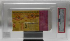 Don larsen Perfect Game 1956 World Series Ticket Game 5 PSA Only 2 Graded Higher