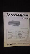 Technics st-8080 service manual original repair book stereo tuner Panasonic