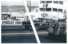 """Vintage Drag Racing-""""TOP CAT"""" '67 D/Gas Cougar-O'CONNOR LINCOLN MERCURY-L.A.Cty."""