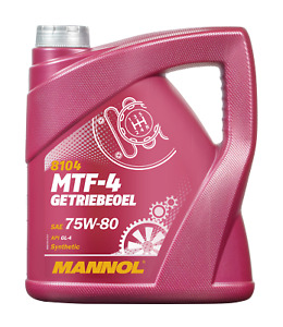 Aceite de Transmisión 75W80 GL-4 Caja Cambios Manual y Diferenciales MANNOL 4L