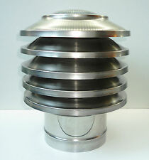 CHIMNEY COWL Stainless Steel Rain Cap Anti Down Draught INOX to fit 10'' / 250mm