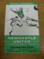 22/11/1969 Newcastle United Reserves v Coventry City Reserves  (4 Pages, Folded,