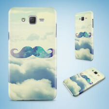 SAMSUNG GALXY J SERIES PHONE CASE BACK COVER|HIPSTER COLOURFUL MOUSTACHE #23