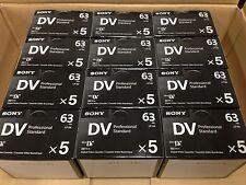 Sony DVM63PS Mini DV Minidv Camcorder Video 63min Professional Tape - 60 Pack