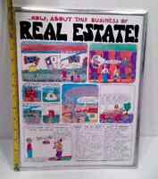 ... Now, About This Business Of Real Estate! | Retro Cartoon Illustration Print
