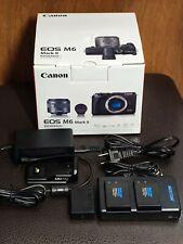 Canon EOS M6 Mark II 15-45mm + EVF Kit w/Extras!!! MINT, UNDER WARRANTY