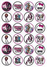 Eßbar Tortenaufleger Monster High DVD Muffin NEU 20 Stück Oblate backen Deko ich