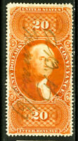 US Stamps # R98c $20 Revenue XF USED Choice Scott Value $300.00