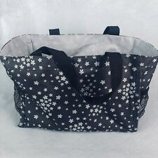 Thirty one Tote Shopping Bag Handbag Small Shoppers Brown White Purse Pockets