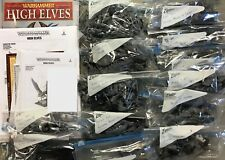 Warhammer Fantasy Battles Sigmar High Elves (Aelves) army 60 figures + army book