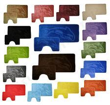 Non Slip 2 Piece Bath Mat with Padestal Mat Set 17 Stunning Colors Free Uk Post