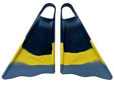 Ally Swim Fins Bodyboard Bodyboarding Surf Surfing New M/L 9.5-10 Black/YLW/GRY