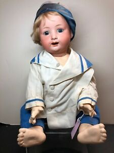 "18"" Antique Germany Koppelsdorf Heubach 267 G Compo Body Repainted Baby Boy SF2"