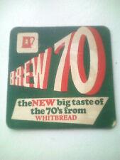 Vintage WHITBREAD CASTLE EDEN  Cat No'02     Beermat / Coaster