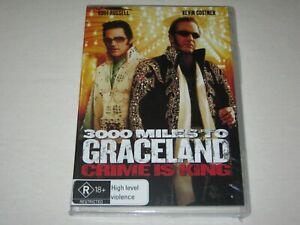 3000 Miles To Graceland - Kurt Russell - Brand New & Sealed - Region 4 - DVD