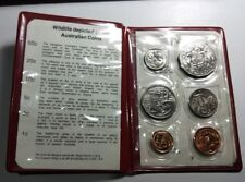 (2nd set) Australian 1983 mint coin set in a red vinyl wallet