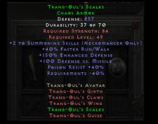 Diablo 2: Trang Trang-Oul's Scales Chaos Armor Softcore D2R Items - PC