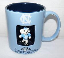 NORTH CAROLINA TAR HEELS 10 OZ SPINNING SCHOOL MASCOT BLUE COFFEE MUG CUP