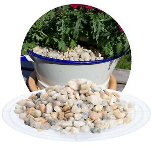 (0,60€/kg) Quarz Zierkies Quarzkies beige 25 kg runder Gartenkies Dekokies