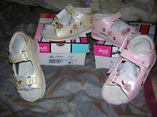 sandales NEUVES 24  BALDUCCI INT CUIR chaussures fille ROSES REGLABLES LARGEUR