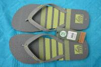 New REEF THONG - GREY/LIME REEF QUALITY Mens Size 13-US. TRINIDAD STYLE