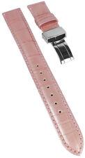 Armband Oceanus   Leder rosa Kroko Prägung  Damenuhrarmband Casio OCW-10LA