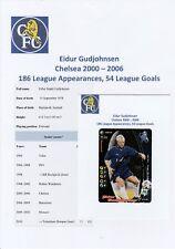 EIDUR GUDJOHNSEN CHELSEA 2000-2006 ORIGINAL HAND SIGNED WIZARD CARD