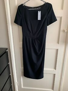 Ladies Black Marks And Spencer Tailored Dress New With Tags Uk 8 Midi