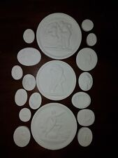#2 18 Grand Tour Cameo Intaglios Medallions Seal Plaster Tassie miniatures Scene
