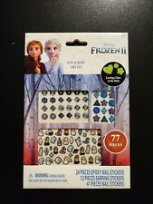 Disney Frozen Ii Nail and Body Art Set Earring Stickers Nail Stickers, 77 Pieces