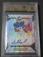 2016 Prizm Sterling Shepard Rookie Blue Wave Autographed Card #'d 149 BGS 10 RC