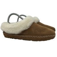 LL Bean Womens Wicked Good Moccasin Slippers Slip On Shearling Lined Size 7M