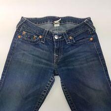 True Religion STRAIGHT Womens Jeans W28 L28 Dark Blue Regular Fit Straight Low