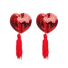1 Pair Adhesive Women Tassel Heart Lingerie Bra Nipple Cover Pasties Nude Bra