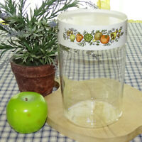 Vint Corning Ware Pyrex Spice of Life See N Store Glass Canister Storage Jar #B