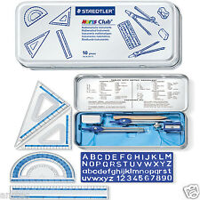 STAEDTLER MATHS GEOMETRY RULER SET SQUARE PROTRACTOR SCHOOL SET in TIN(557 10)