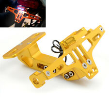Durable Motorcycles License Number Plate Holder Bracket W/Led Turn Signal Light