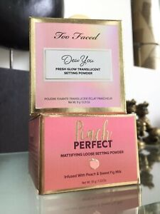 Too Faced Peach Perfect & Dew You Mattifying Translucent Setting Powder | BULK