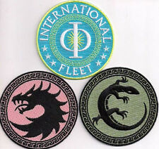 """ENDERS GAME Movie Patch Set of 3 Logo Embroidered Patches- 3"""" (EGPA-SET3)"""