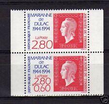 FRANCE N° 2864A ** journée du timbre la paire, TTB