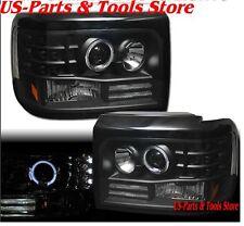 Für Ford F150 F250 F350 Bronco Scheinwerfer Satz Projector Angeleyes 92 96 LED b